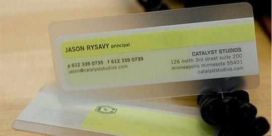 catalyst studios business card
