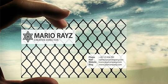mario business card