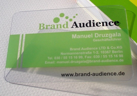 green color business card