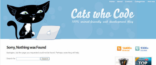 catswhocode 404 error pages