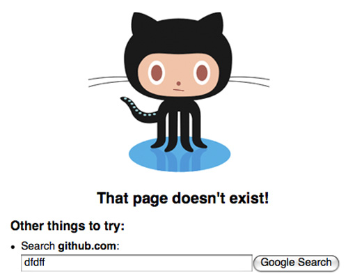 github 404 error pages