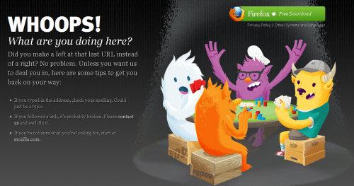 mozilla 404 error pages