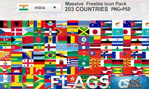 200 Country Flags