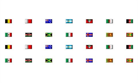 Country Pixel Flag Icons