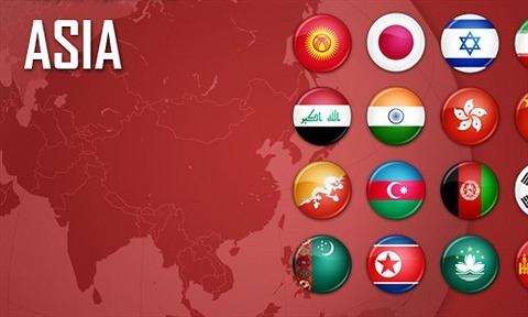 Flag Icons Asia