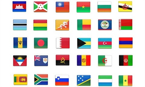 172 final country flag icons