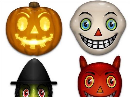 Vintage Halloween Icons