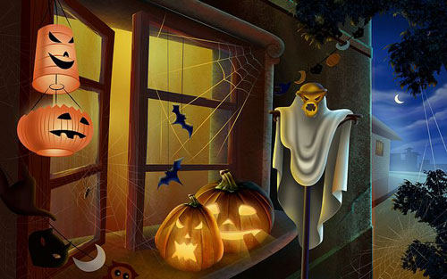 Halloween Haunts Wallpaper