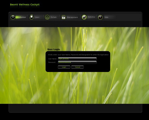 smart client layout login page