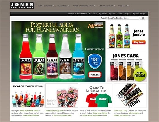 Jones Soda—Beverages and Beverage-Related Gear