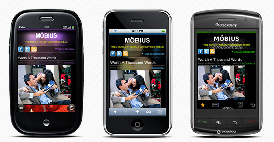 Möbius Theme for WordPress