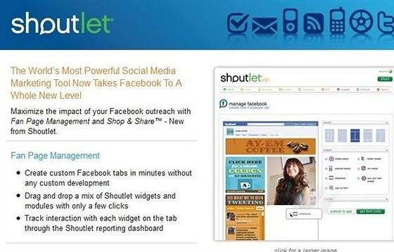 Shoutlet eCommerce Shopping Cart Apps for Facebook