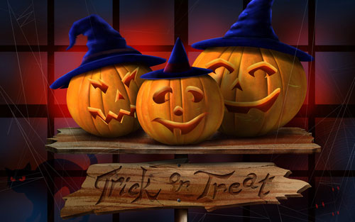 Trick or Treat Halloween Wallpaper