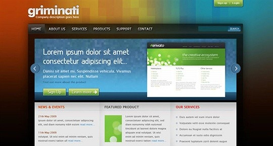 Create a Clean and Colorful Web Layout
