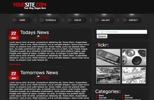 WordPress Mockup Layout