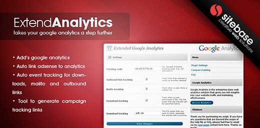 Extended Google Analytics for WordPress (Premium) WordPress Plugin