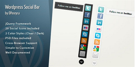 WordPress Social Bar (Premium) WordPress Plugin