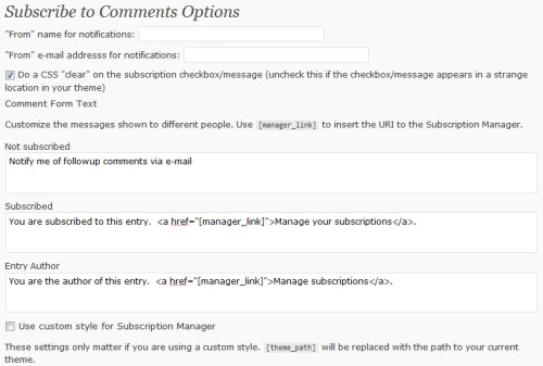 Subscribe To Comments WordPress Plugin