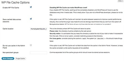 WP File Cache WordPress Plugin