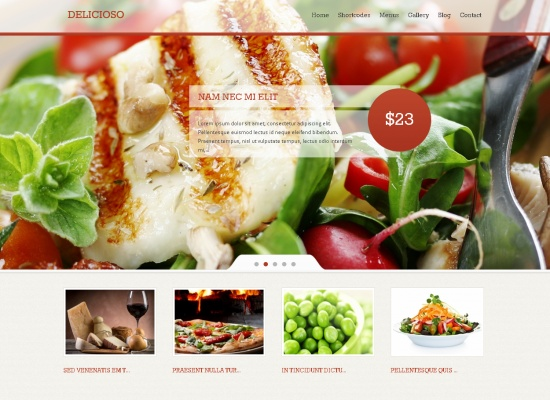 Delicioso Delicious WordPress Restaurant Theme