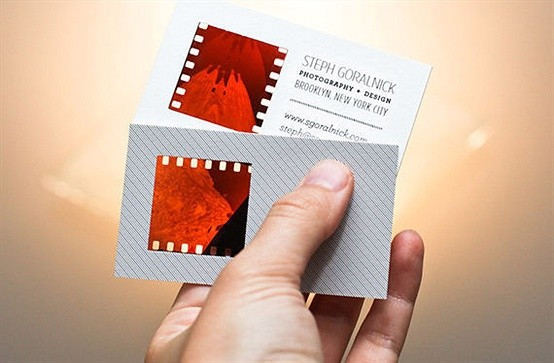 how to make photographic negative business cards