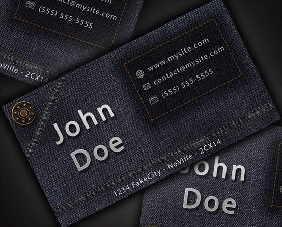 design a cool and original jean style business card