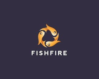 Fish Fire Logo Design