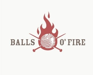Balls O' Fire Logo Design
