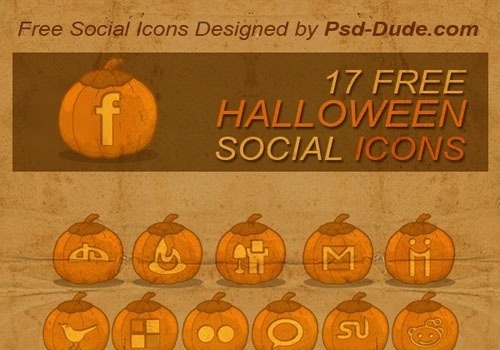 halloween pumpkins free social icon pack