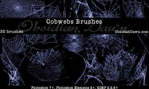 cobwebs photoshop brushes