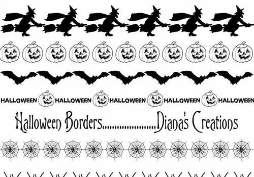 halloween border brushes