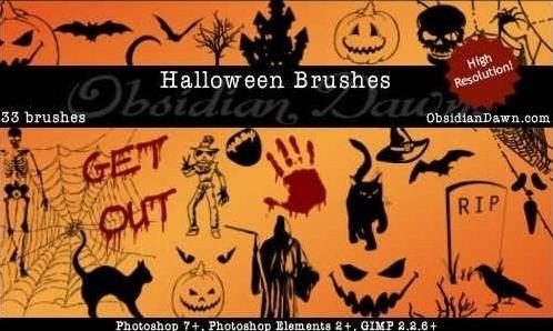 halloween vectors brushes