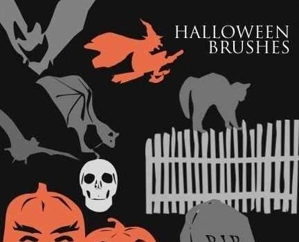 photoshop halloween brushes