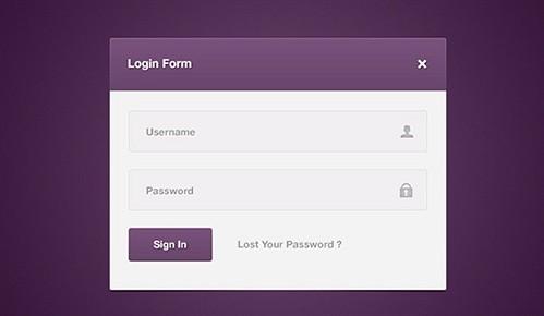 login form psd psd web element