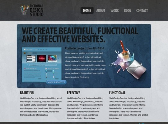 modern design studio psd template