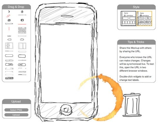 iphone mockup wireframe tool