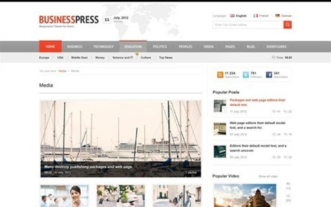 business news – responsive magazine, news, blog