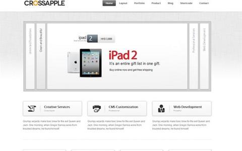 cross apple – clean business wordpress theme