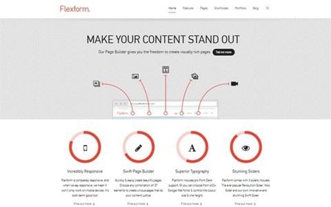 flexform retina responsive multipurpose theme