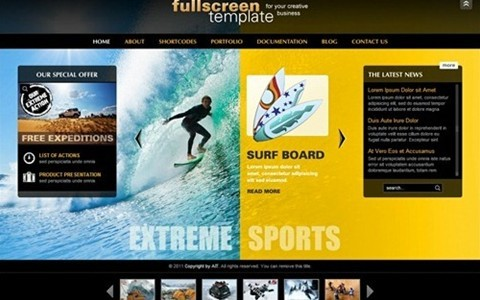 fullscreen – business theme