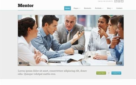 mentor – responsive business wordpress theme