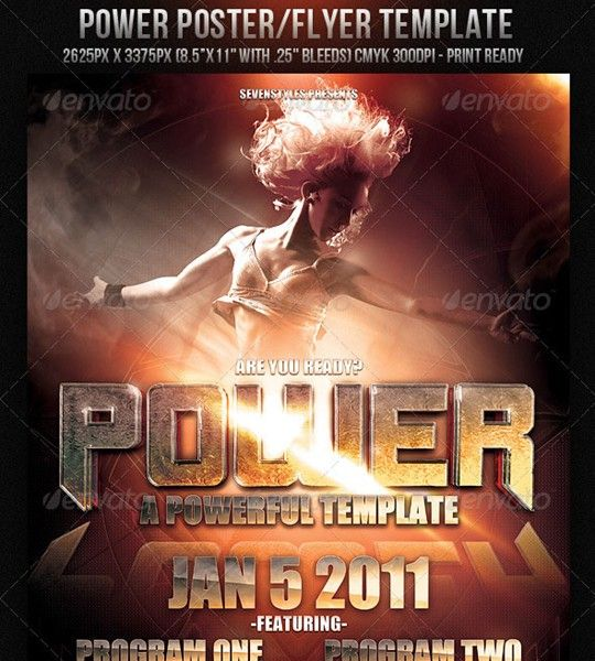 power poster/flyer template