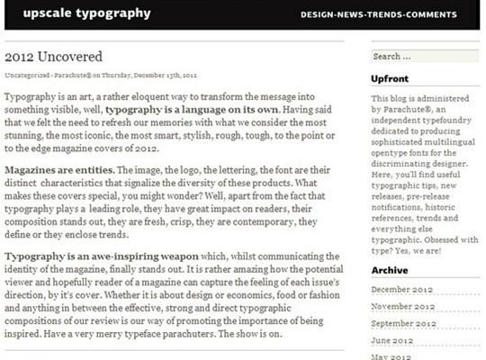 upscale typography