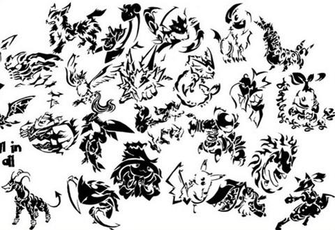 pokemon tattoo photoshopbrushes
