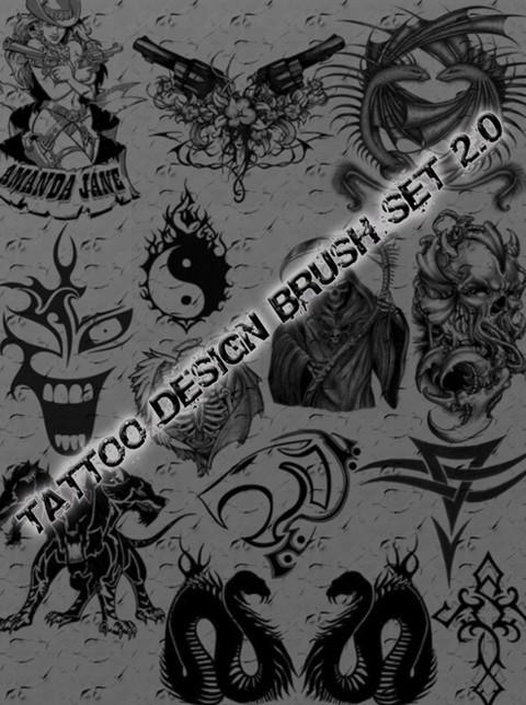tattoo design brush set 2.0