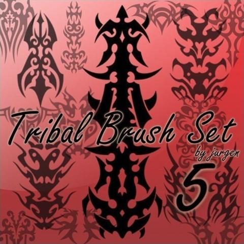 tribal brush set 5