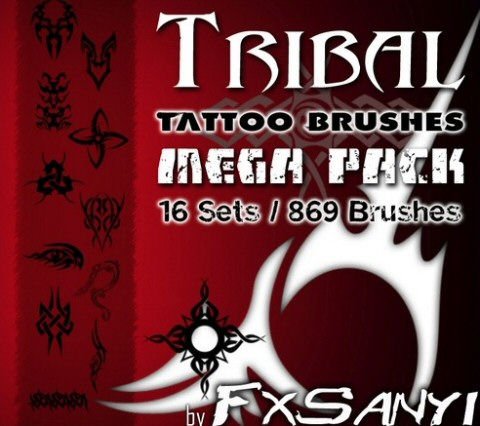 tribal tattoo brushes megapack