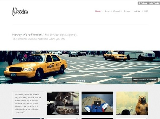 agency – responsive tumblr theme