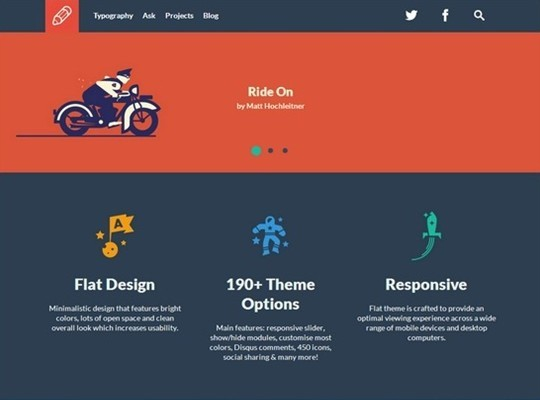 flat – responsive business tumblr theme