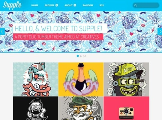 supple – a portfolio theme for tumblr